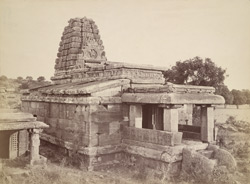 General view from the west of the Huchimalli Gudi Temple, Aihole